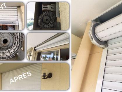Installation et réparation volet roulant monobloc PVC à Antibes